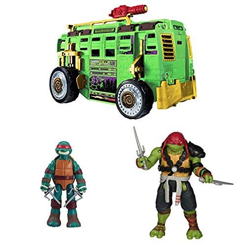 """Bundle Includes 3 Items - Teenage Mutant Ninja Turtles Shellraiser Group Vehicle and Teenage Mutant Ninja Turtles Mutant XL 11"""" Raphael Action Figure and Teenage Mutant Ninja Turtles Movie 2"""