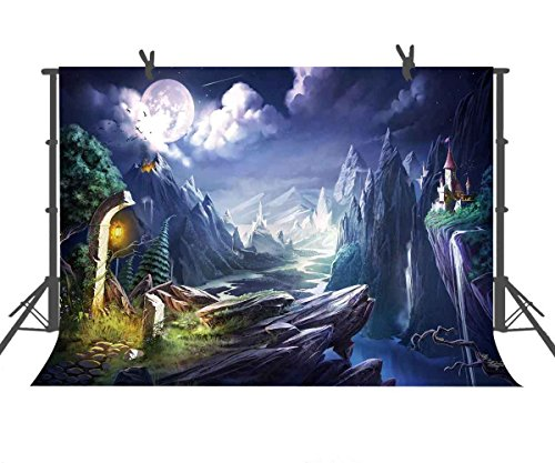 FUERMOR Photo Background 7x5ft Fairytale Fantasy Island Photography Backdrop Props Room Mural GEFU806 (Photo Wall Island Mural)