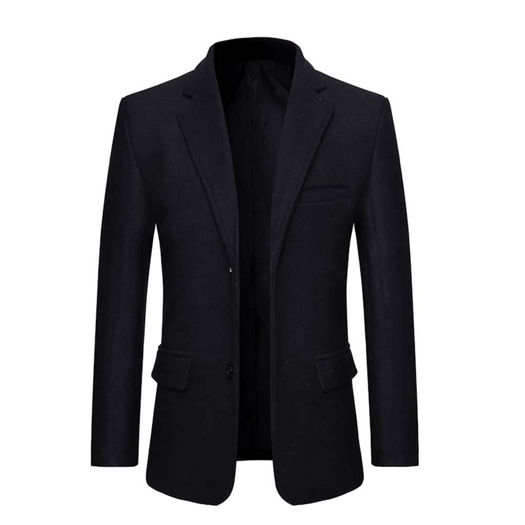 Redacel Men's Suit Slim Fit Casual One Button Blazer Jacket Sport Classic Separate Coat Suitable for Business Work (Black,XL) by Redacel