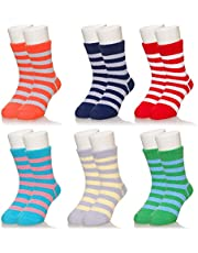 Baby Boys Girls Soft Fuzzy Slipper Socks Non-Slip Cozy Winter Fluffy Warm Kids Toddler Socks
