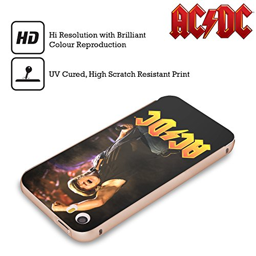Officiel AC/DC ACDC Brian Johnson Solo Or Étui Coque Aluminium Bumper Slider pour Apple iPhone 5 / 5s / SE