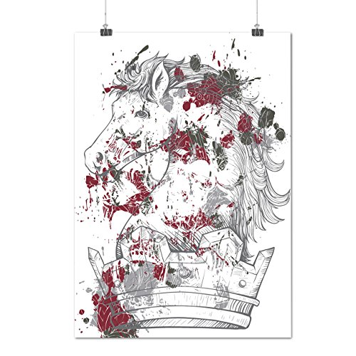 Hannibal King Costume (Horse King Blood Horror Royal Crown Matte/Glossy Poster A2 (60cm x 42cm) | Wellcoda)