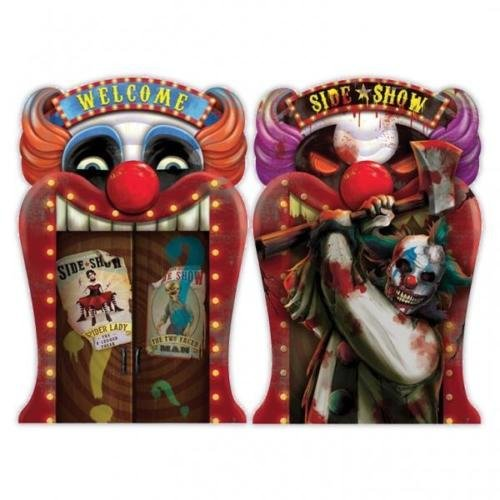Amscan Creepy Carnival Side Show Lenticular/Picture Change Sign (Creepy Clowns Pictures)