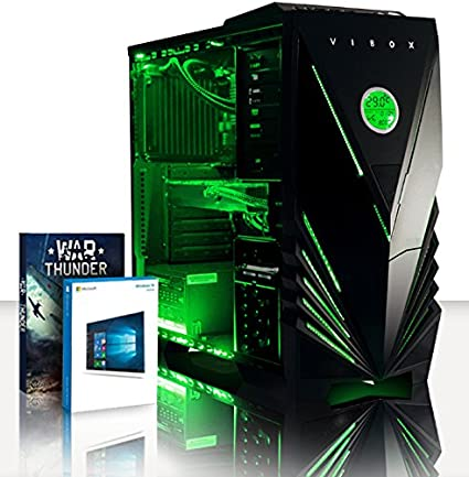 VIBOX Cetus 45 - Ordenador de sobremesa Gamer Gaming, Windows 10, 4,4GHz Procesador CPU Intel i7 Quad 4 Core, Nvidia Geforce GTX 980 Ti 6GB GPU de la ...