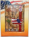Hsu's Ginseng SKU 130-4 | Half Short Extra Large | Cultivated Wisconsin American Ginseng direct from Hsu's Ginseng Gardens w/One Free Single American Ginseng Tea Bag | 许氏花旗参 | 4oz box, 西洋参, B019BP0YH8