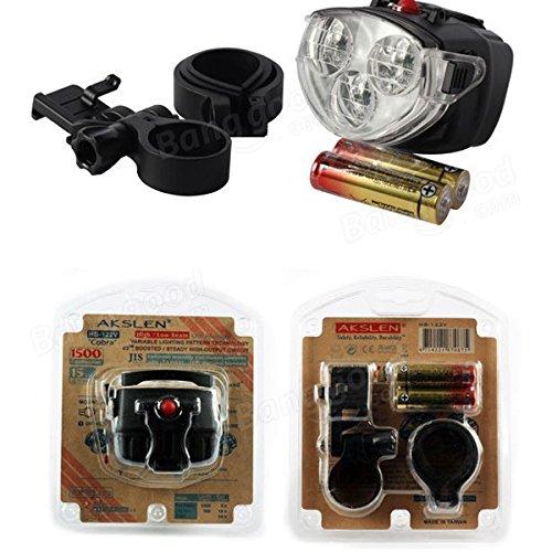 Bazaar 3 LED 2 Mode avant de bicyclette lumière vélo lampe de poche avec pince à vélo