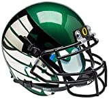 NCAA Oregon Ducks Green Wing Mini Helmet, One Size, White
