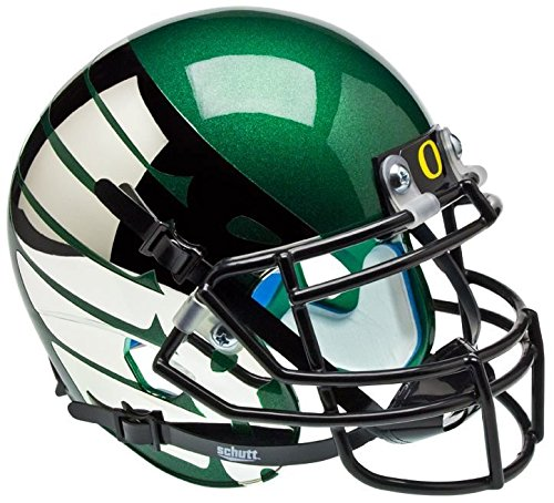 NCAA Oregon Ducks Green Wing Mini Helmet, One Size, White by Schutt
