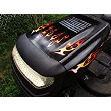 Flame Decals - Tribal - for riding lawn mower tractor - 10pc. set for John Deere ride on mowers garden tractor