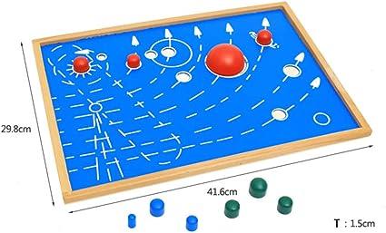 Wumudidi Montessori Material El Sistema Solar Nueve Planetas Niños ...
