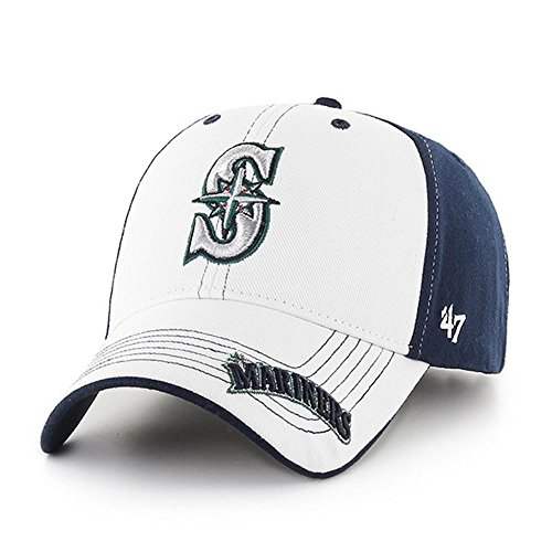 fan products of MLB Seattle Mariners Revolution MVP Adjustable Hat, Kids, Navy