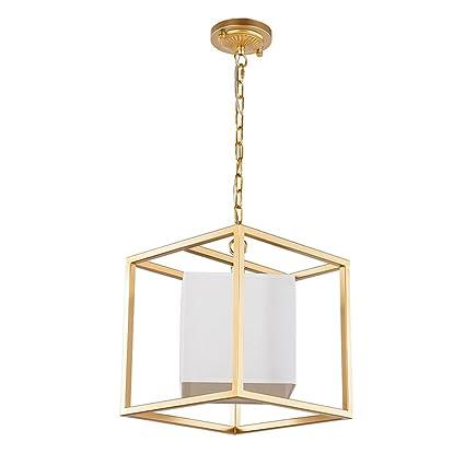 Candelabros Lámparas colgantes de hierro, Nordic LED Tela ...