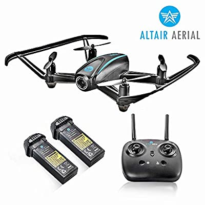 Altair #AA108 Camera Drone Great for Kids & Beginners | Free Priority Shipping | RC Quadcopter w/ 720p HD FPV Camera VR, Headless Mode, Altitude Hold, 3 Skill Modes, Easy Indoor Drone, 2 Batteries: Toys & Games