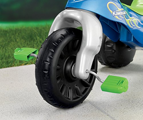 51UhQ%2B64ydL - Fisher-Price Kawasaki Tough Trike, Blue/Green
