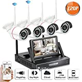 Cheap SW SWINWAY 4Channel Wifi Security Camera System with 7″ Monitor Home Surveillance Camera Wireless 3.6mm Wide Angle 49ft Night Vision CCTV Camera System 4pcs Wireless IP Bullet Cameras Plug and Play