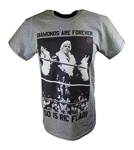 Freeze Ric Flair Diamonds Are Forever WWE Mens Gray T-SHIRT-3XL by Freeze