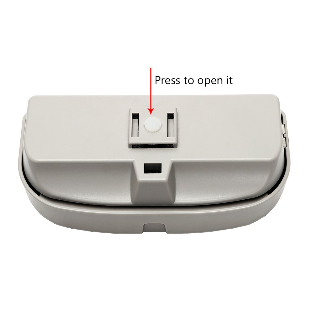 Gray Itimo /étui /à lunettes de voiture Clip pare-soleil Box carte Ticket de stockage rangeant Ranger Auto Organiseur daccessoires support pour lunettes de soleil Car-styling