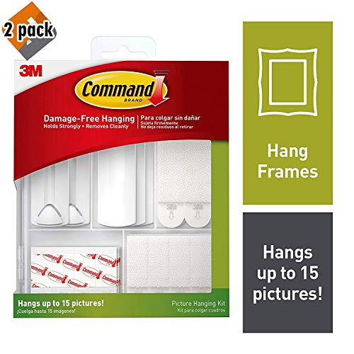 Command 17213-ES Kit Hangs up to 15 Pictures 38 Piece, White, Pack ()