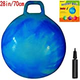 AppleRound Space Hopper Ball: 28in/70cm Diameter for Age 13+, Pump Included (Hop Ball, Kangaroo Bouncer, Hoppity Hop, Sit and Bounce, Jumping Ball)