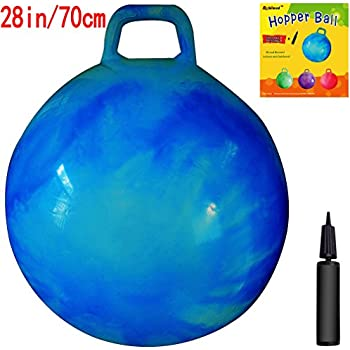 Space Hopper Ball: 28in/70cm Diameter for Age 13+, Pump Included (Hop Ball, Kangaroo Bouncer, Hoppity Hop, Sit and Bounce, Jumping Ball)