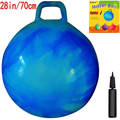 Hoppy Ball - AppleRound Space Hopper Ball: 28in/70cm Diameter for Age 13+, Pump Included (Hop Ball, Kangaroo Bouncer, Hoppity Hop, Sit and Bounce, Jumping Ball)