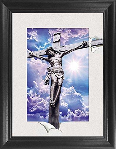 Jesus Christ on the Cross Framed 5D / 3D Lenticular Picture 14.5x18.5