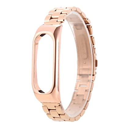 Amazon.com: Ayangg Solid Stainless Steel Strap Gold for Mi ...