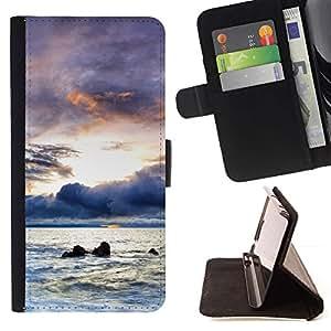 For Sony Xperia Z1 L39 Case , Un futuro más brillante- la tarjeta de Crédito Slots PU Funda de cuero Monedero caso cubierta de piel