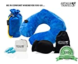 Travel Package | 3 in 1 Travel Pack | Luxury Pump Inflatable Travel Pillow | Luxury 3D Travel Mask | High Fidelity Ear Plugs | Completely Comfortable Travel