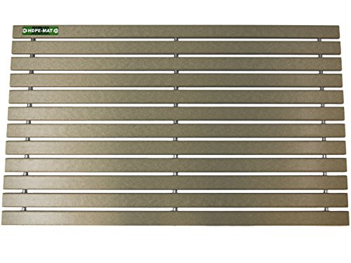 HDPE-MAT UV Resistant Heavy Duty Waterproof Front Door Mat | Stylish Handcrafted Recycled Plastic Poly Lumber Slats - Eco Friendly For Outdoor Entrance Patio Garage Entry by HDPE-MAT (Image #3)
