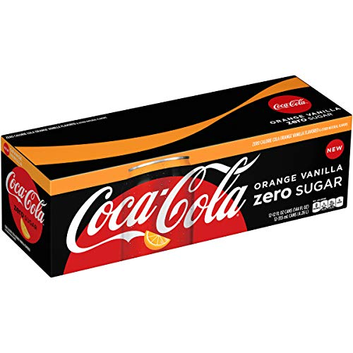 - Coca-Cola Coke Orange Vanilla Zero Sugar Cola, 12 fl oz, 12 pack