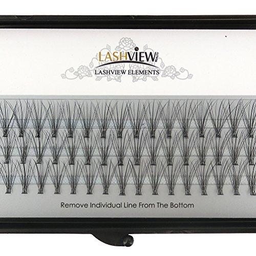LASHVIEW 0.07mm 10 Root 12mm Medium Length Soft Individual Cluster Eyelashes Mink Fake Eyelashes Extension Handmade Grafting False Eyelashes Individual False Eyelashes Knot-free Natural Long