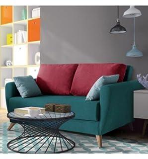 SHIITO Sofá Dos plazas con Cama de 130x200 cm tapizado en Tela. Disponible