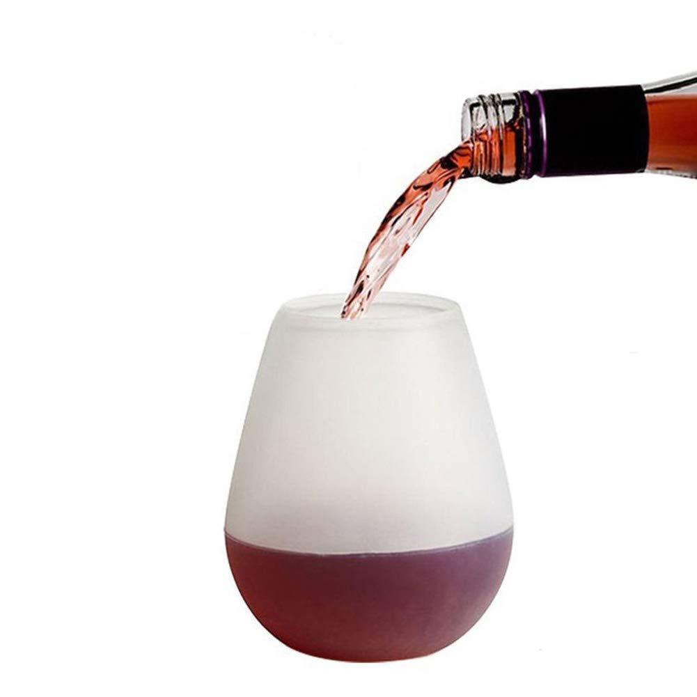 Pasa el ratón por encima de la imagen para ampliarla Copas de vino de silicona, vasos de irrompible plegable vino cata gafas 12 oz eholder seguro de goma vaso – reutilizable rojo vino copa portátil para Piscina, barbacoa, Picnic, fiesta de cumpleaños, Picn