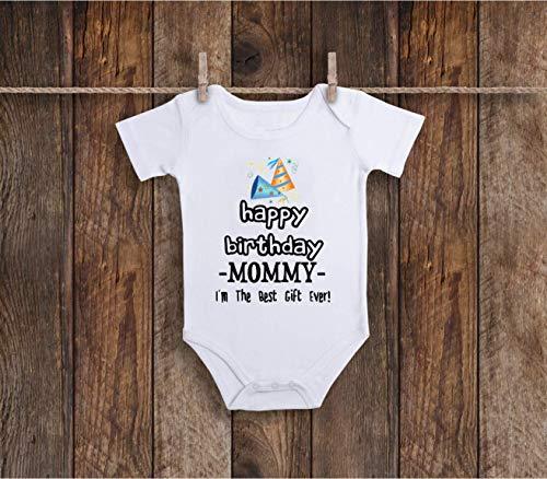 (Funny Happy Birthday Mommy Baby Bodysuit For Sassy, Sarcastic Farm Animals Lover, Zoo)