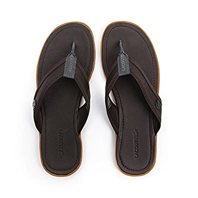 43dd5d9e1bb4f7 Lacoste Footwear Carros 5 SRM Brown Sandals 11(45)  Amazon.co.uk  Shoes    Bags