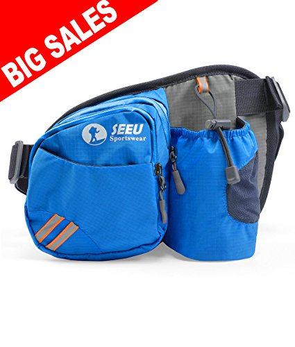 Best Deals (Best Deal! Sports Fanny Pack, Lightweight Waist Bag Hip Bag with Water Bottle Holder)
