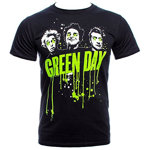 s T Shirt - Large, Black (Green Day Printed T-shirts)