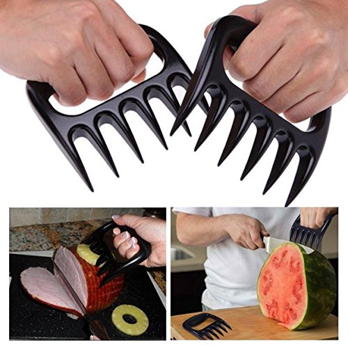MEAT CLAWS Pulled Pork Shredder - For Perfectly Shredded Meat, These Are The Bear Claws You Need - Best Bear Claws Meat Shredder For BBQ, Smoker, Grill - Shred Your Meat, Don't Burn Your Hands!(Set of by Eohak (Image #1)