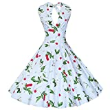 Search : Maggie Tang Women's 1950s Vintage Rockabilly Dress