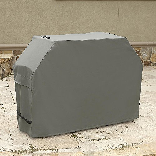BBQ Grill Cover. This Kenmore Waterproof Vinyl Cover Is Perfect for Protecting Your Grill, Smoker & Barbecue From the Elements. Heavy Duty Polyester With PVC Backing. Up to 65 L X 26 W X 46 H in. Gray (Kenmore Barbecue Gas compare prices)