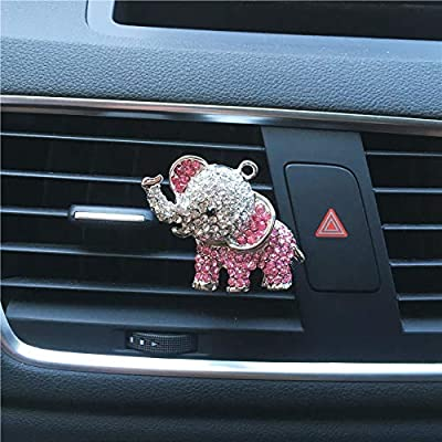 FOLCONROAD Auto Diamond Elephant Car Air Conditioning Outlet Clip Decorative (Silver)[US Warehouse]Christmas Gifts: Automotive