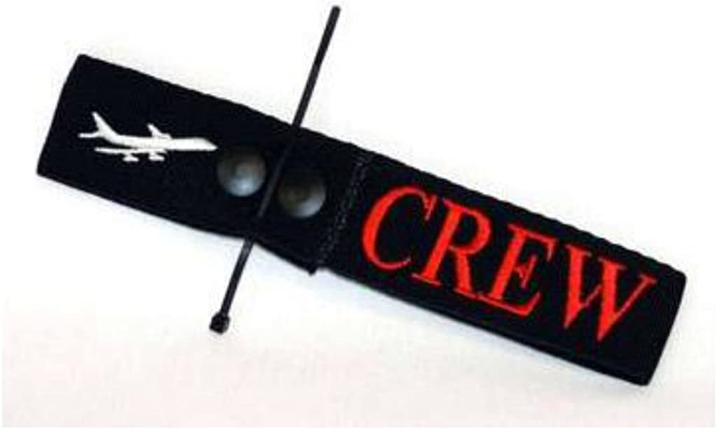 Airline Secure Crew Bag Tag Embroidered