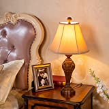 table lamp American Village Retro Table Lamp Bed Bedside Lamp Creative Decoration Living Room Lighting A+