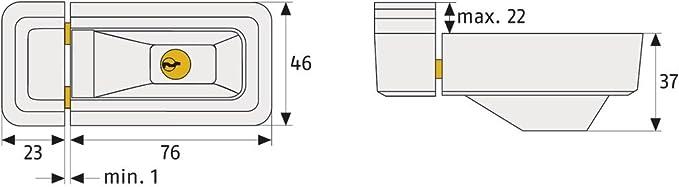 Niveau de S/écurit/é 6-31762 /à Verrouillage Identique Marron Serrure de S/écurit/é pour Fen/êtres et Portes ABUS Verrouillage Suppl/émentaire pour Fen/êtres 3010 AL0145
