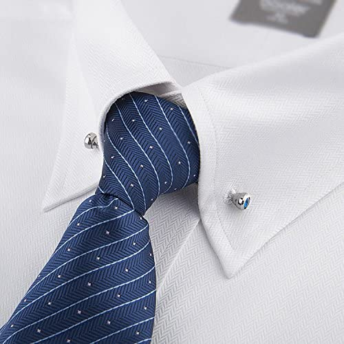 Geek-M Corbata Cuello Bar Pin Set para Hombres Rhinestone Moda Collar Clips 6 pcs