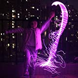 LED Fiber Optic Whip, Fiber Optic Dance Whips Super Bright, 6 Foot 360° Rotation More Modes and Effects, Light Up Rave Toy | EDM Pixel Flow Lace Dance Festival