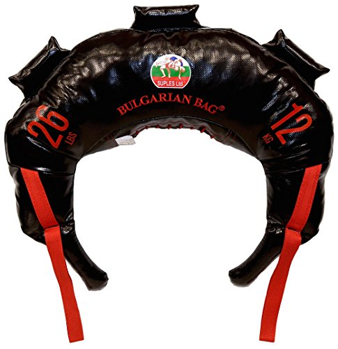 Bulgarian Bag - NEW Black PVC - Suples - The Original (Fitness, Crossfit, Wrestling, Judo, Grappling, Functional Training, MMA, Sandbag, Training Bag, Weighted Bag, Weight Bag) (26)