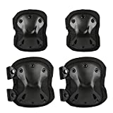 LIHAO Knee Pads Protector Adjustable Elbow Pads for Adults Children Cycling Ice Skating Mountain Climbing CS Equipment (Pack of 4)