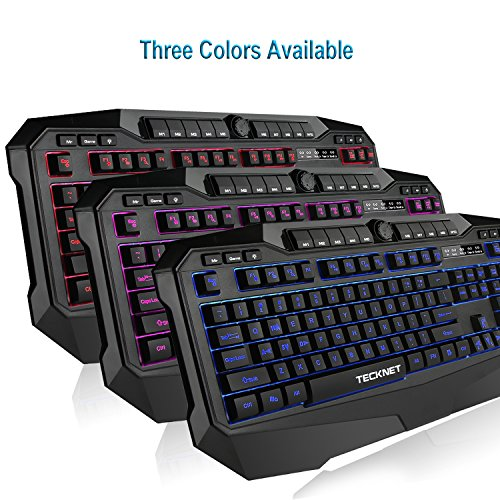 51UhTGk33DL - TeckNet-Gryphon-Pro-LED-Illuminated-Programmable-Gaming-Keyboard-and-Mouse-set-Water-Resistant-Design-US-layout